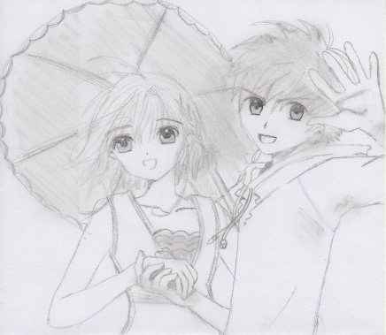 drawing Syaoran&Sakura 2